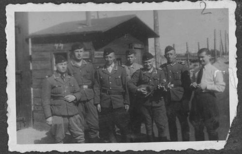 Belzec SS-staff in front of entrance gate.Tomaszow Lubelski
