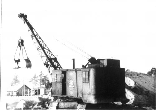 Fig 3 Old Gas Chamber and Excavator