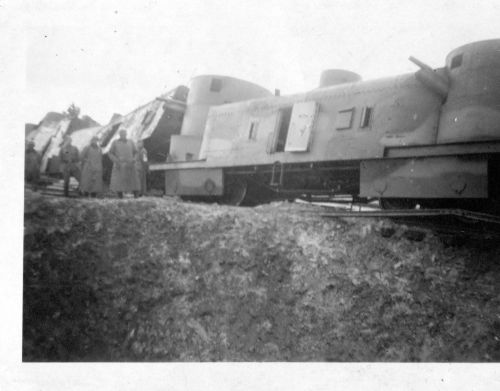 lochow - destroyed armoured train497